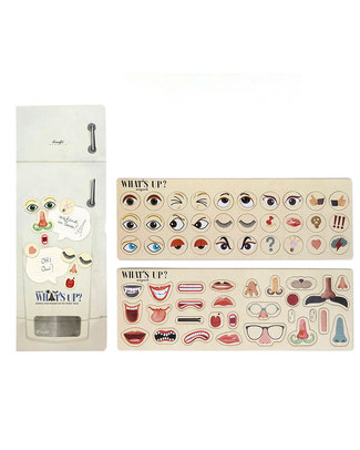 Londji Fridge Magnet Set - Funny Faces for leaving messages on fridge! Puzzles
