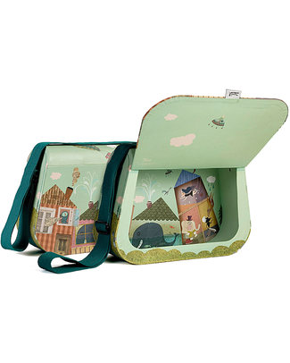 Londji Ma Grande Valisette - Large Decorated Carrying Case - Recycled Cardboard (with magnetic closing!) Travel Bags