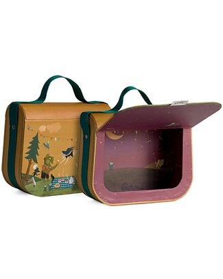 Londji Ma Petite Valisette - Small Decorated Carrying Case - Recycled Cardboard (with magnetic closing!) Travel Bags