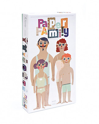 Londji Paper Family - 4 dolls to wear with 20 dresses! (recycled cardboard) Paper & Cardboard