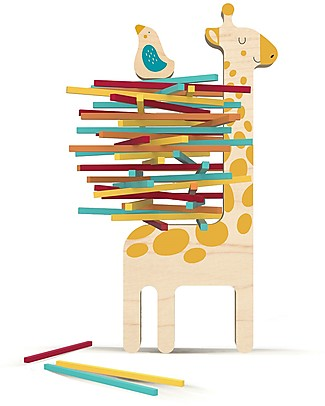 Londji Wooden Toy Matilda and Her Little Friend Balancing Game - Help the bird building the nest! Wooden Stacking Toys