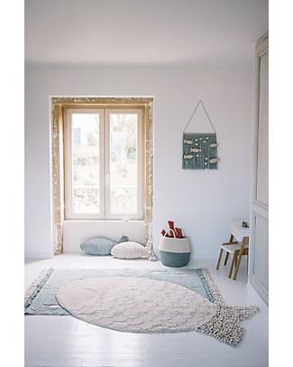 Lorena Canals Big Fish Washable Rug, Natural - 100% Cotton (110 x 180 cm) Carpets