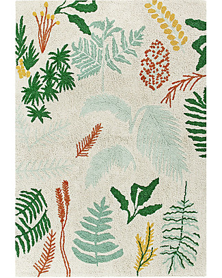Lorena Canals Big Machine Washable Rug, Botanic Plants - 140 x 200 cm Carpets