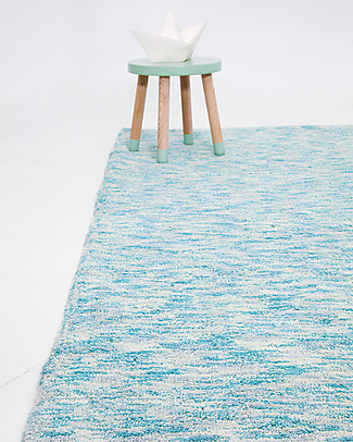 Lorena Canals Big Machine Washable Rug Emerald Green Mix  100% Cotton (140cm x 200cm) Carpets