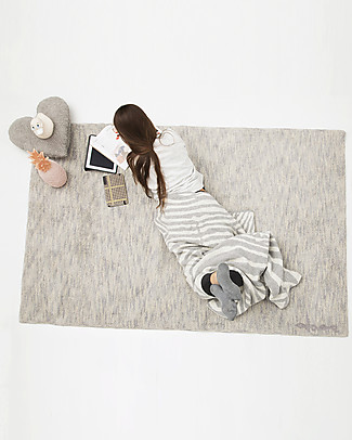Lorena Canals Big Machine Washable Rug Grey Stone Mix  100% Cotton (140cm x 200cm)  Carpets