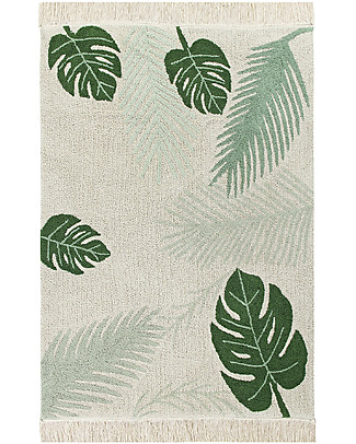 Lorena Canals Big Machine Washable Rug, Tropical Green - 140 x 200 cm Carpets