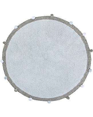 Lorena Canals Bubbly, Round Machine Washable Rug, Blue - 120 cm diameter Carpets