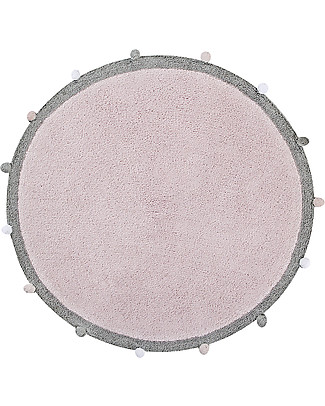 Lorena Canals Bubbly, Round Machine Washable Rug, Pink - 120 cm diameter Carpets