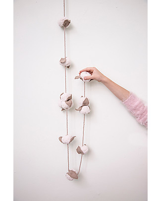 Lorena Canals Cotton Balls Garland - 150 cm Lenght Room Decorations