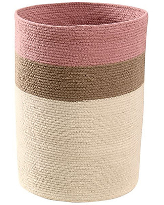 Lorena Canals Cotton Basket Bazaar, Ash Rose - Hand-made (35 x 50 cm) Toy Storage Boxes