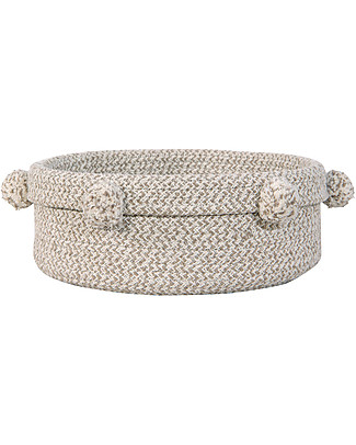 Lorena Canals Cotton Basket Tray, Natural - Hand-made (12x 30 cm) Toy Storage Boxes
