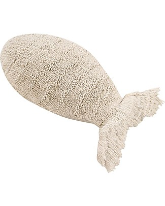 Lorena Canals Cushion Baby Fish, Natural - 100% Cotton (60 x 27 cm) Cushions