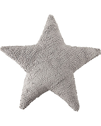 Lorena Canals Grey Star Cushion 100% Natural Cotton (machine washable) Cushions