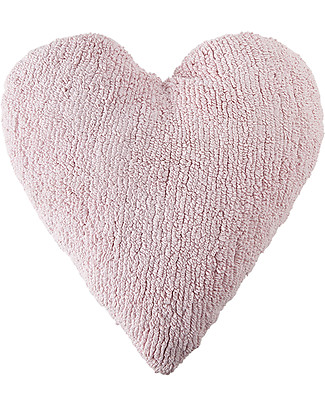 Lorena Canals Heart Cushion Pink 100% Natural Cotton (machine washable!) Cushions