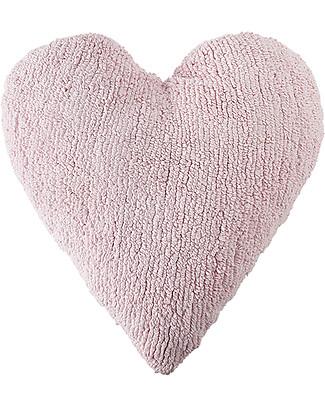 Lorena Canals Heart Cushion Pink 100% Natural Cotton (machine washable!) Cushions