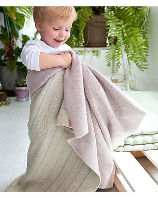 Lorena Canals Knitted Baby Blanket Back to School, NoteBook - 100% Cotton (90 x 120 cm) null