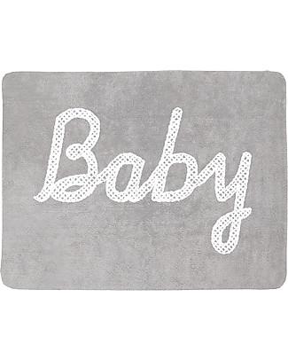 Lorena Canals Machine Washable Baby Rug, Grey 100% Cotton (120cm x 160cm)  Carpets