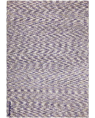 Lorena Canals Machine Washable Big Washable Rug Mix - Linen-Navy - 100% Cotton (140cm x 200cm)  Carpets