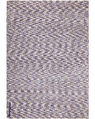 Lorena Canals Machine Washable Big Washable Rug Mix - Linen-Navy - 100% Cotton (140cm x 200cm)  Carpets
