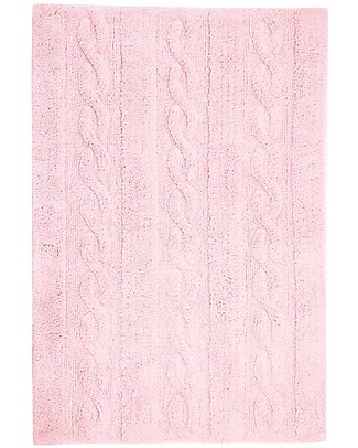 Lorena Canals Machine Washable Cabled Rug Pink 100% Cotton (120cm x 160cm)  Carpets