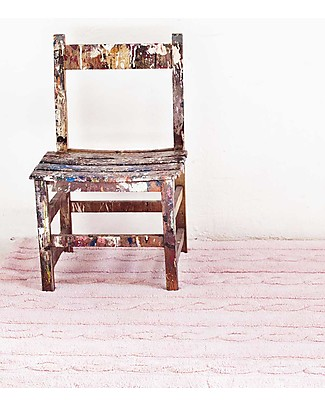 Lorena Canals Machine Washable Cabled Rug Pink 100% Cotton (120cm x 160cm) New Model! Carpets