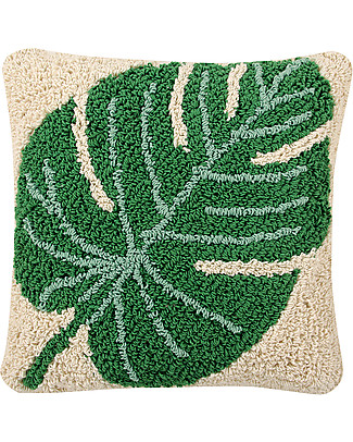Lorena Canals Machine Washable Cushion, Monstera - 38 x 38 cm - Hand-made Cushions