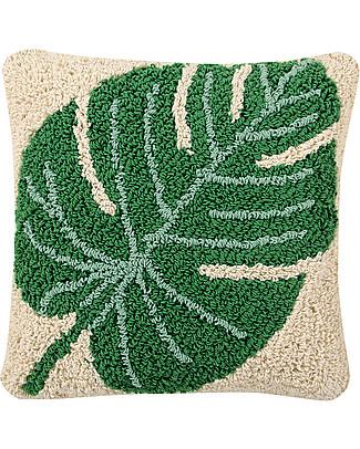 Lorena Canals Machine Washable Cushion, Monstera - 38 x 38 cm - Hand-made Cushions