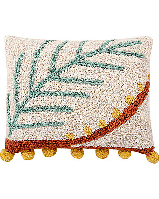 Lorena Canals Machine Washable Cushion, Palm - 38 x 48 cm - Hand-mde Cushions