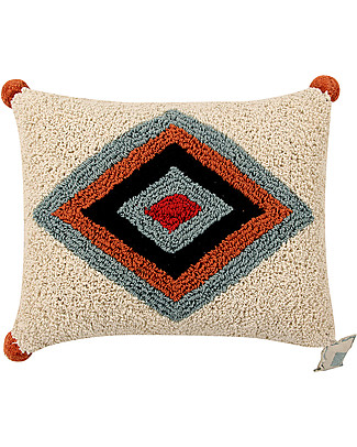 Lorena Canals Machine Washable Cushion, Rhombus - 38 x 48 cm - Hand-made Cushions