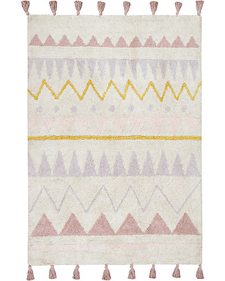 Lorena Canals Machine Washable Rug Azteca, Natural/Vintage Nude - 100% Cotton (140x200 cm) Carpets