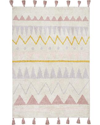 Lorena Canals Machine Washable Rug Azteca, Natural/Vintage Nude - 100% Cotton (140x200 cm) Carpets