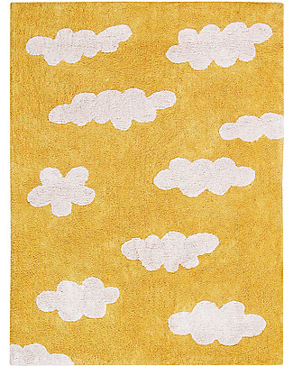 Lorena Canals Machine Washable Rug Clouds, Mustard - 100% Cotton (120x160 cm) Carpets