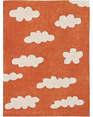 Lorena Canals Machine Washable Rug Clouds, Terracota - 100% Cotton (120x160 cm) Carpets