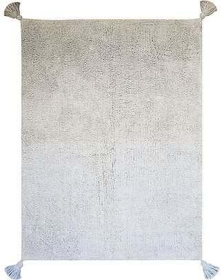Lorena Canals Machine Washable Rug Degrade - Grey /Baby Blue - 100% Cotton (120cm x 160cm)  Carpets
