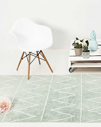 Lorena Canals Machine Washable Rug Hippy Mint 100% Cotton (120 cm x 160 cm) - New model! Carpets