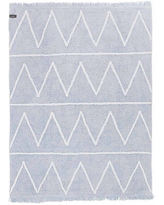 Lorena Canals Machine Washable Rug Hippy Soft Blue 100% Cotton (120 cm x 160 cm) Carpets