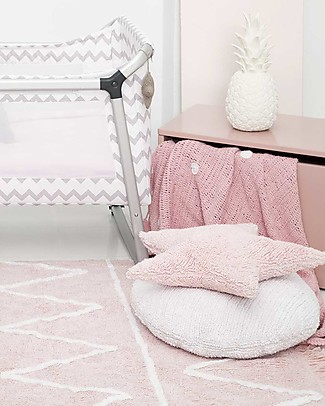 Lorena Canals Machine Washable Rug Hippy Soft Pink 100% Cotton (120 cm x 160 cm)  Carpets