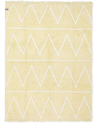 Lorena Canals Machine Washable Rug Hippy Yellow 100% Cotton (120 cm x 160 cm)  Carpets