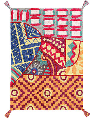 Lorena Canals Machine Washable Rug, Indian Bag, Multicoloured - 100% Cotton (120x160 cm) Carpets
