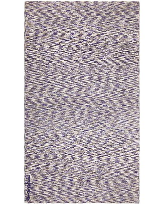 Lorena Canals Machine Washable Rug Mix - Linen-Navy - 100% Cotton (90x160cm)  Carpets