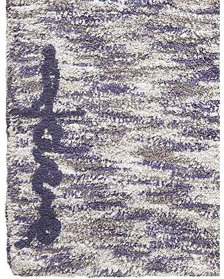 Lorena Canals Machine Washable Rug Mix - Linen-Navy - 100% Cotton (90x160cm)  Carpets