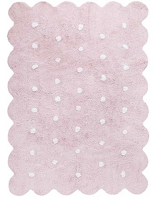 Lorena Canals Machine Washable Rug  Pink Biscuit 100% Cotton (120 cm x 160 cm) Carpets