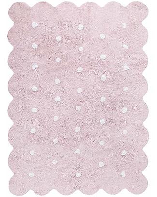 Lorena Canals Machine Washable Rug  Pink Biscuit 100% Cotton (120 cm x 160 cm) Carpets