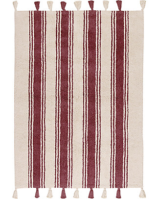 Lorena Canals Machine Washable Rug Stripes - Marsala - 100% Cotton (120cm x 160cm)  Carpets
