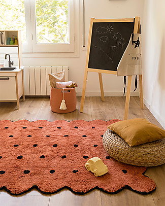 Lorena Canals Machine Washable Rug Terracota Biscuit 100% Cotton (120 cm x 160 cm) Carpets