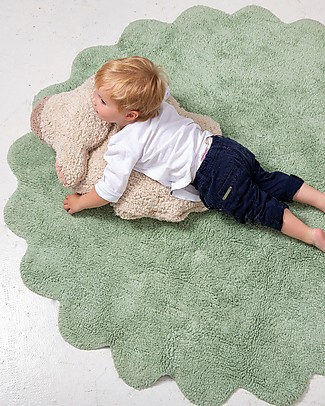 Lorena Canals Machine Washable Rug with Cushion Puffy Sheep, Puffy Rugs - 100% Cotton (140 cm) Carpets