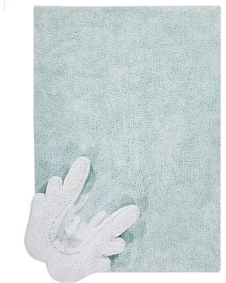 Lorena Canals Machine Washable Rug with Cushion Puffy Wings, Puffy Rugs - 100% Cotton (120x160 cm) Carpets