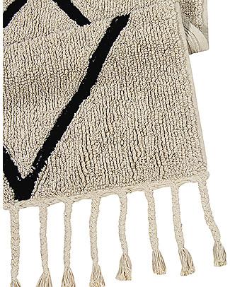 Lorena Canals Machine Washable Runner Rug Black and White - Bereber Beige - 100% Cotton (80cm x 230cm)  Carpets