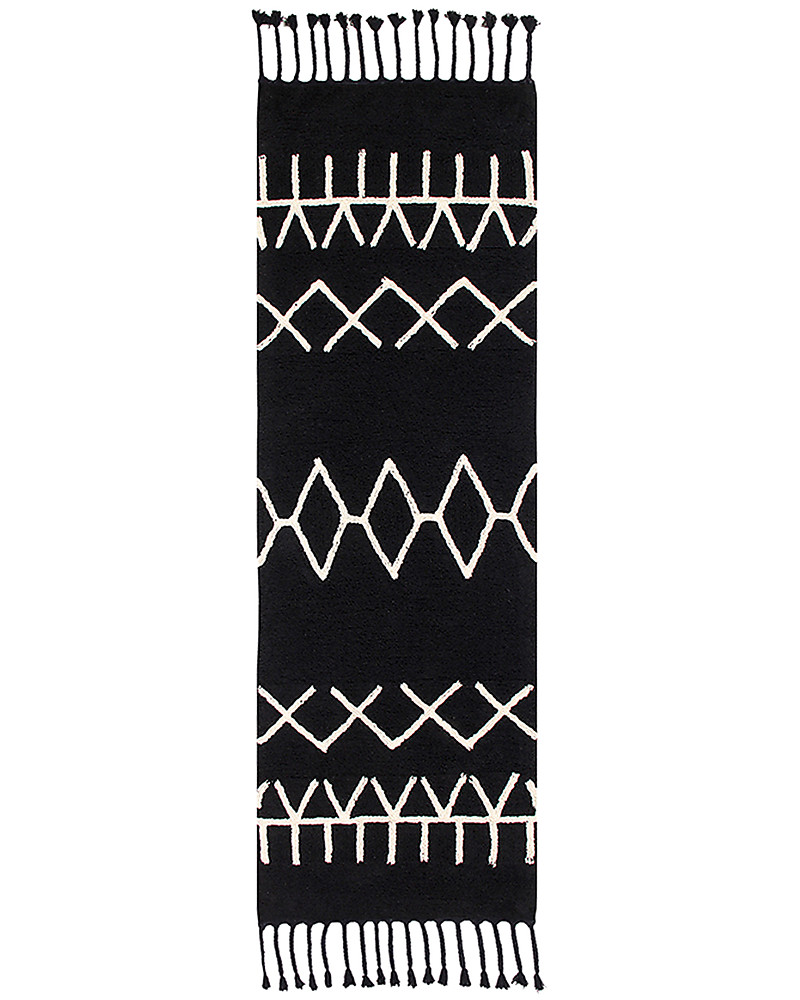 Lorena Canals Machine Washable Runner Rug Black And White Bereber
