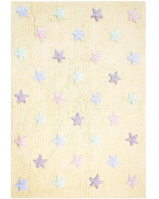 Lorena Canals Machine Washable Star  Rug – Vanilla 100% Cotton (120cm x 160cm)  Carpets